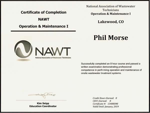 O & M Certificate